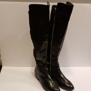 Micheal Kors Black Patent Leather knee high boots